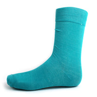 Teal Solid Dress Socks