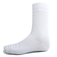 White Solid Dress Socks