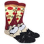 Man Eating Pizza Novelty Dress Socks