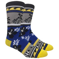 Fish & Flower Novelty Dress Socks