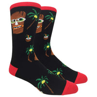 Tiki & Pina Colada Novelty Dress Socks