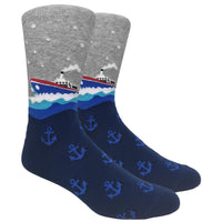 Steamboat Novelty Dress Socks