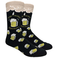 Don't Worry, Beer Hoppy Novelty Dress Socks