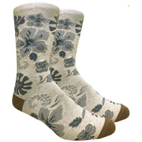 Hawaiian Flower Novelty Dress Socks