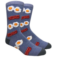 Bacon and Eggs Novelty Dress Socks