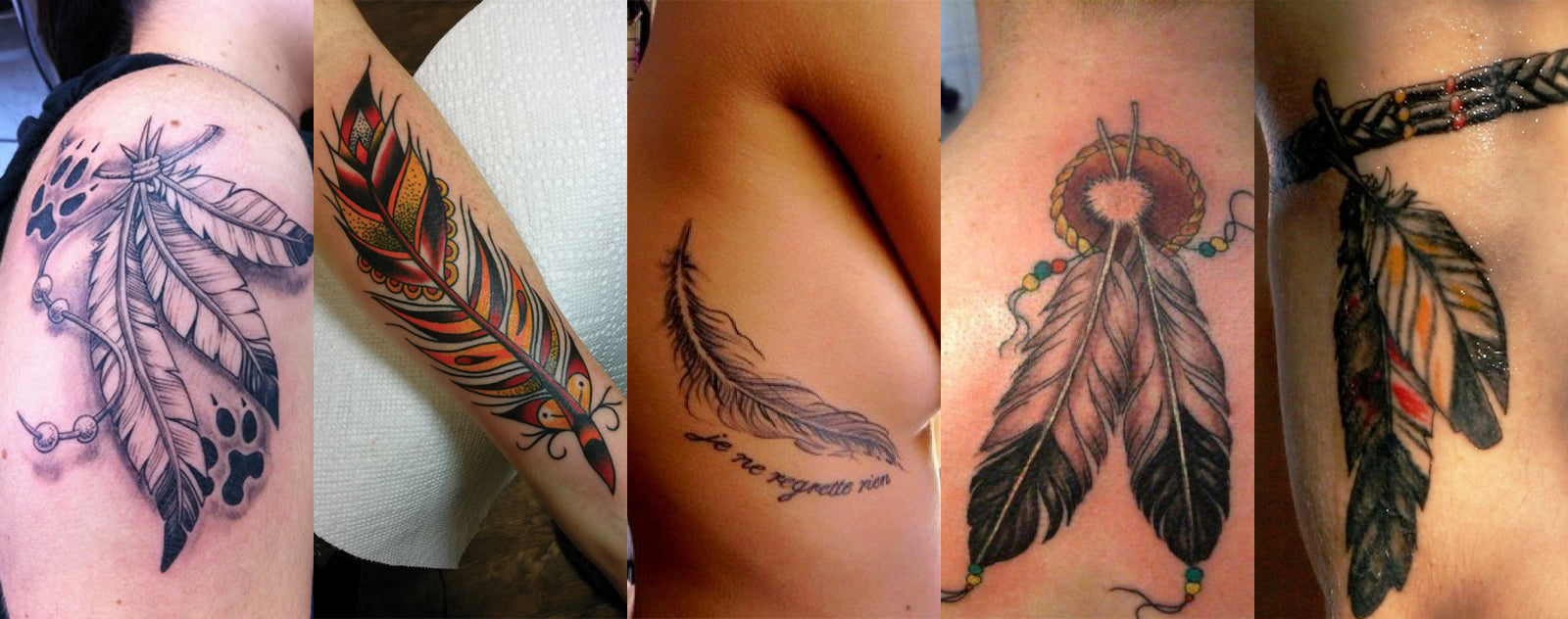 tatouage indien plume signification