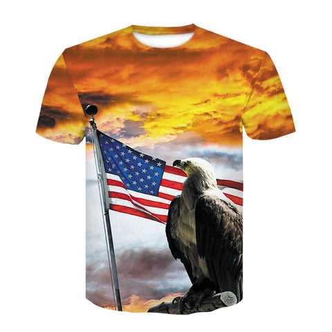 t shirt drapeau usa