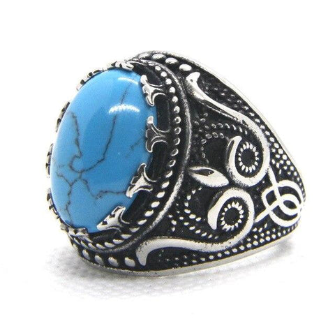 Bague Grosse Pierre Turquoise | Le-Geronimo-Store