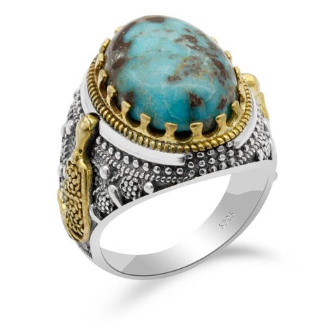 Bague Navajo Turquoise | Le-Geronimo-Store