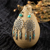 Boucle d'Oreille Perles Turquoise | Le-Geronimo-Store