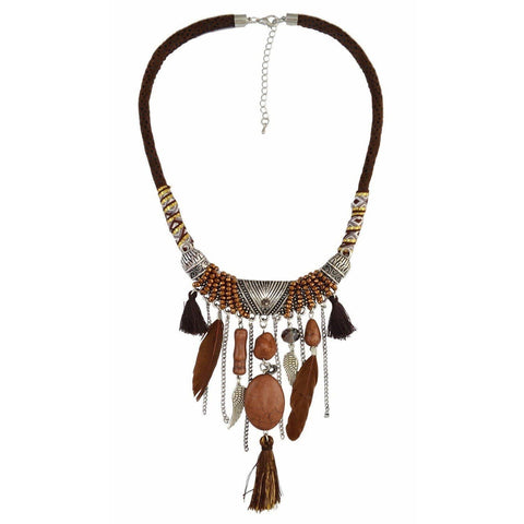 Collier Marron | Le-Geronimo-Store