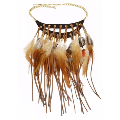 Collier Plume Indien | Le-Geronimo-Store