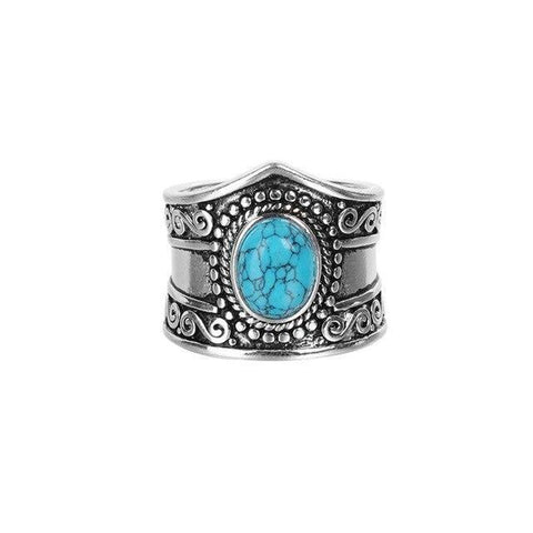 Grosse Bague Turquoise | Le-Geronimo-Store