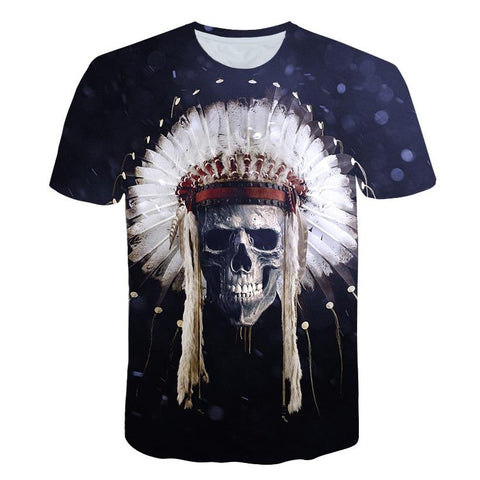 T-Shirt Coiffe Indien | Le-Geronimo-Store