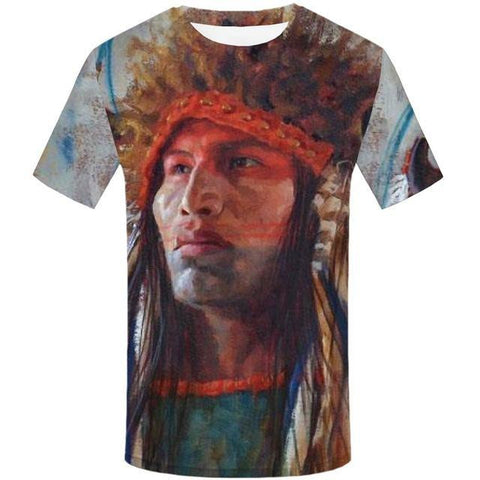 T-Shirt Homme Coiffe Indienne | Le-Geronimo-Store