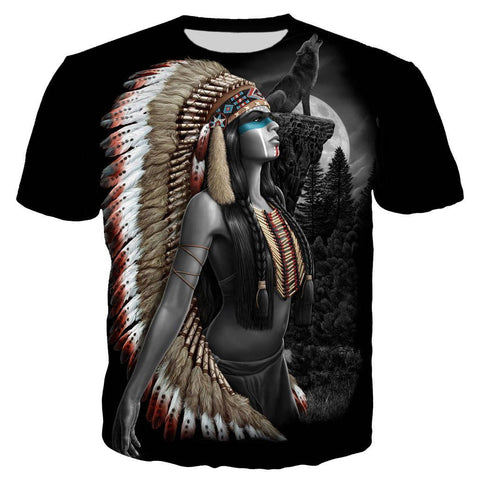T-Shirt Indien Plumes | Le-Geronimo-Store
