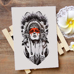 Tatouage Coiffe Indienne | Le-Geronimo-Store