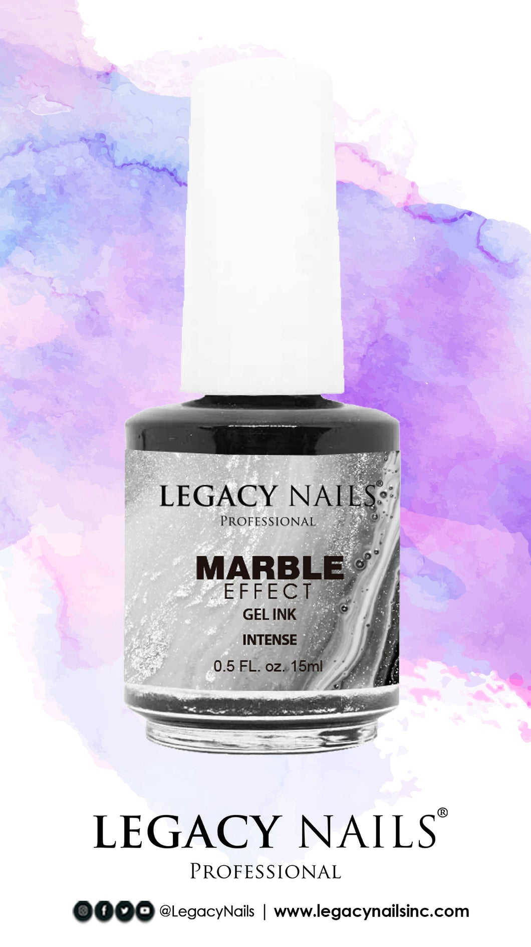 Gel ink Marble Black