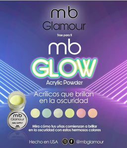 Acrylic collection glow in the dark 6 colors