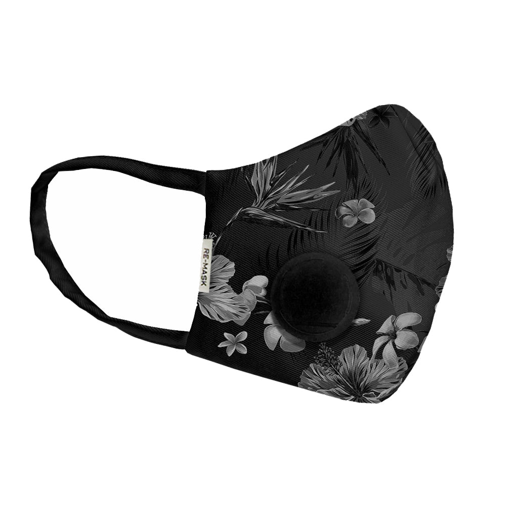 Re-Mask Pro Black Flower
