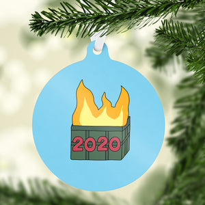 2020 Dumpster Fire Holiday Ornament - feminist doodles