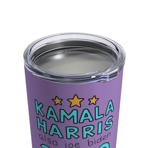 Kamala Harris and Also Joe Biden 2020 10 oz Metal Thermos - feminist doodles