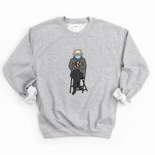 Load image into Gallery viewer, Bernie Sanders Inauguration Mittens Adult Sweatshirt