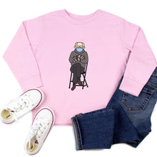 Load image into Gallery viewer, Bernie Sanders Inauguration Mittens Youth & Toddler Sweatshirt (Hoodie or Crewneck) - feminist doodles