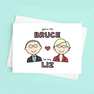 You're the Bruce Mann to My Elizabeth Warren Love / Anniversary Card - feminist doodles