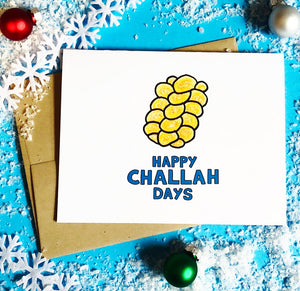 Happy Challah Days Holiday Card