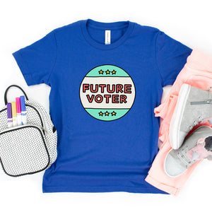 Future Voter Kids' T-Shirt - feminist doodles