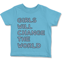 Load image into Gallery viewer, Girls Will Change the World Kids' T-Shirt