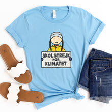 Load image into Gallery viewer, Greta Thunberg Skolstrejk for Klimatet Adult T-Shirt