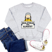 Load image into Gallery viewer, Greta Thunberg Skolstrejkt for Klimatet Youth & Toddler Sweatshirt (Hoodie or Crewneck) - feminist doodles