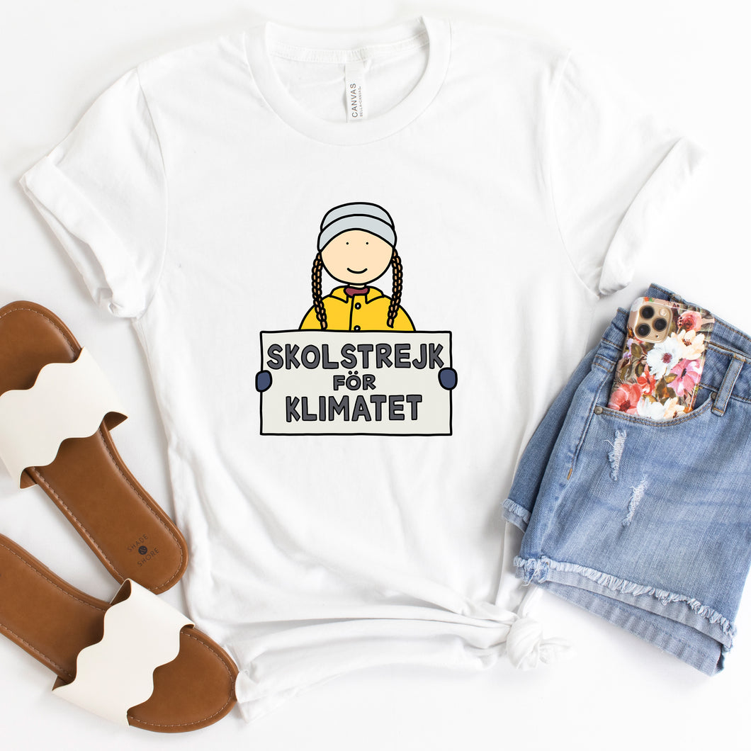 Greta Thunberg Skolstrejk for Klimatet Adult T-Shirt