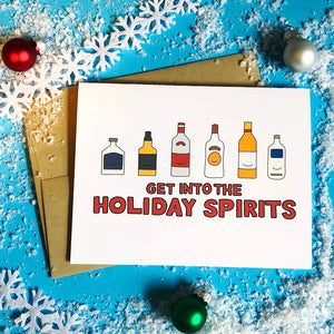 Get into the Holiday Spirits Holiday Card