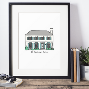 Custom House Portrait Illustration