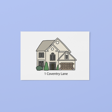 Load image into Gallery viewer, Custom House Portrait Illustration