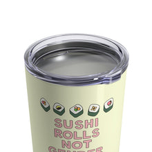Load image into Gallery viewer, Sushi Rolls Not Gender Roles 10 oz Metal Thermos - feminist doodles