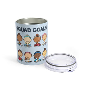 USWNT Squad Goals World Cup Soccer Team 10 oz Metal Travel Mug - feminist doodles