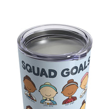 Load image into Gallery viewer, USWNT Squad Goals World Cup Soccer Team 10 oz Metal Travel Mug - feminist doodles