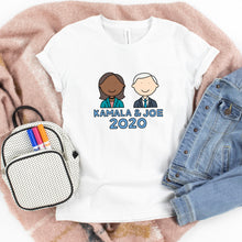 Load image into Gallery viewer, Kamala Harris & Joe Biden 2020 Kids' T-Shirt - feminist doodles