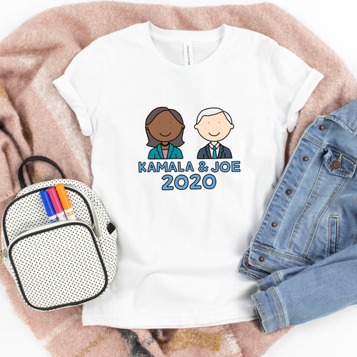 Kamala Harris & Joe Biden 2020 Kids' T-Shirt - feminist doodles