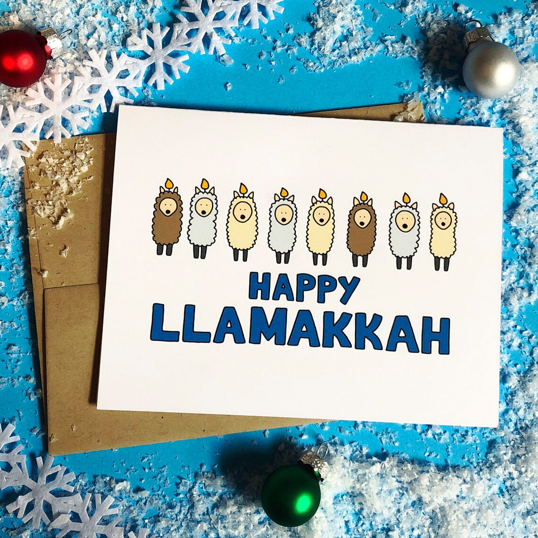 Happy Llamakkah Holiday Card