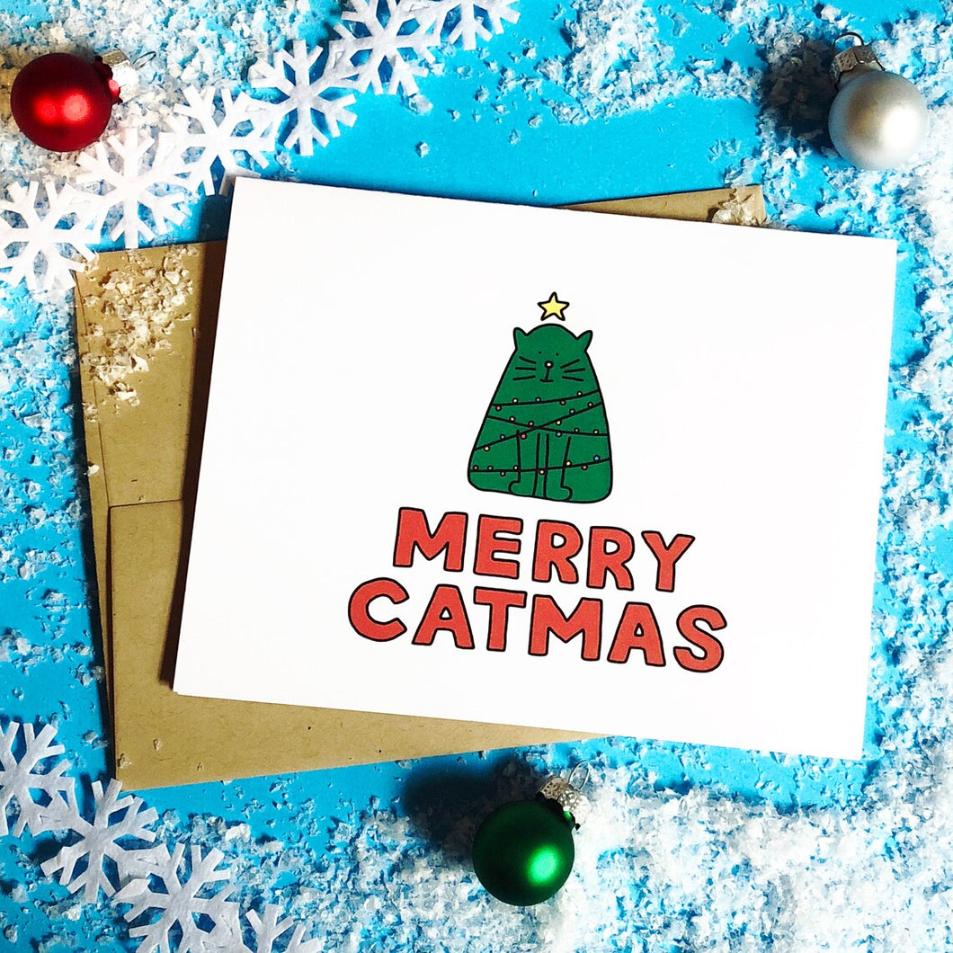 Merry Catmas Holiday Card