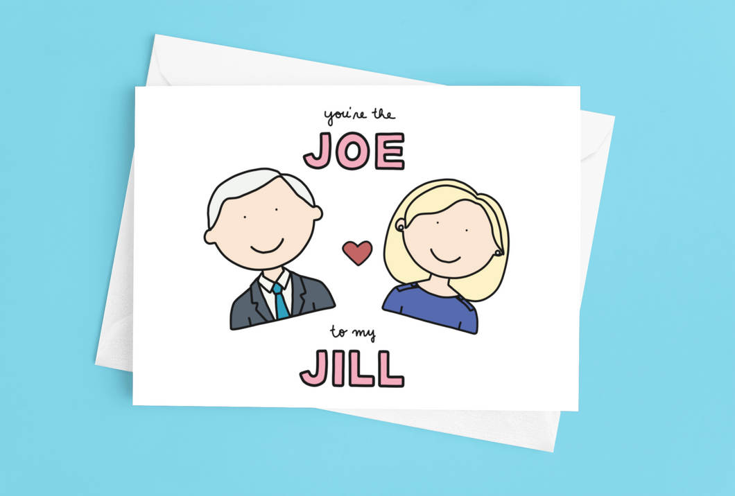 You're the Joe to my Jill Love / Anniversary Card - feminist doodles