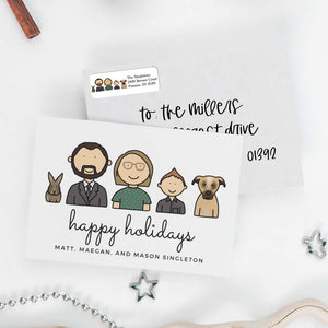 Custom Holiday Cards & Address Labels Bundle