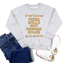 Load image into Gallery viewer, Pizza Rolls Not Gender Roles Youth & Toddler Sweatshirt (Hoodie or Crewneck) - feminist doodles