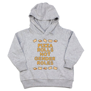 Pizza Rolls Not Gender Roles Youth & Toddler Sweatshirt (Hoodie or Crewneck) - feminist doodles