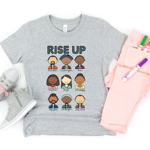 Hamilton Rise Up Kids' T-Shirt - feminist doodles